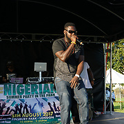 Finsbury park, London, UK. 4th August 2017. Akata stone preforms at the Nigerian Summer Party in the Park with live music, great food & drinks.
