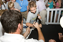 27 May 2007: Duke Blue Devils midfielder Mike Catalino (29) signs autographs at M&T Bank Stadium in Baltimore, MD.