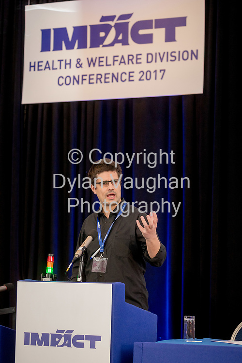 2-6-17<br />  <br /> Rodrigo Frade, Sligo pictured at the IMPACT Health and Welfare Division Conference in Wexford.<br /> Picture Dylan Vaughan.