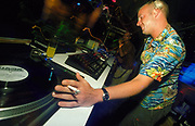 DJ Norman Cook (Fatboy Slim) dj'ing in Ibiza 2000's