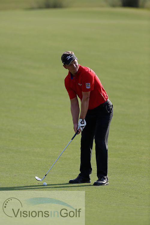 Luke Donald<br /> during the third round of the Race To Dubai DP World Tour Golf Championship, Dubai, UAE November  2013<br /> Picture Credit:  Mark Newcombe / www.visionsingolf.com