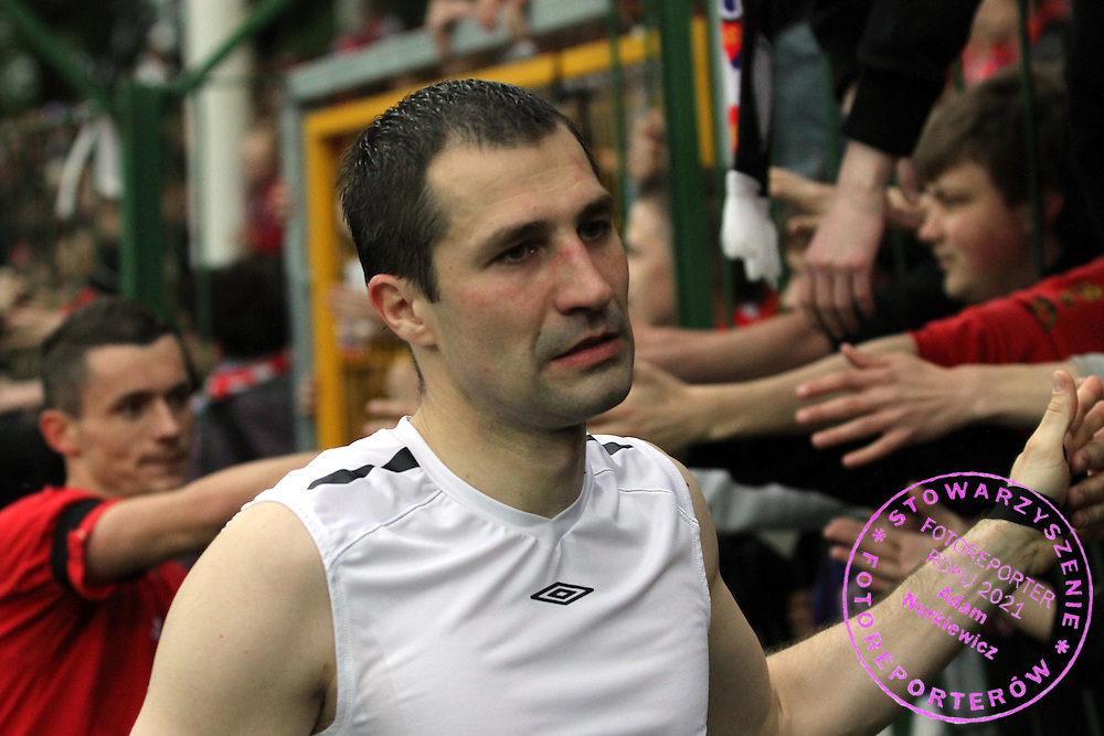 STADION HUTNIKA , MECZ EKSTRAKLASY PILKI NOZNEJ WISLA KRAKOW - ODRA WODZISLAW , N/Z  RADOSLAW SOBOLEWSKI WISLA....KRAKOW , POLSKA ,  MAJ 15 , 2010....( PHOTO BY NORBERT KROL / MEDIASPORT )....PICTURE ALSO AVAIBLE IN RAW OR TIFF FORMAT ON SPECIAL REQUEST.  *** Local Caption *** `