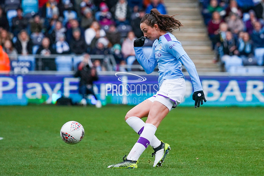 Manchester City Women forward Caroline Weir (19) takes a shot during the FA Women's Super League match between Manchester City Women and West Ham United Women at the Sport City Academy Stadium, Manchester, United Kingdom on 17 November 2019.