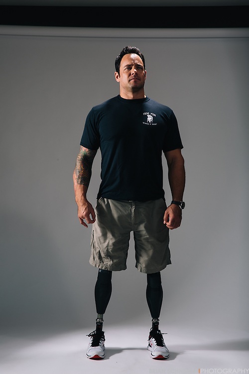 Oct 21, 2016; Bethesda, MD, USA; Army Captain Ben Harrow who lost both his legs during an IED blast while serving as a Green Beret in Afghanistan poses for a portrait and performs a small workout. Harrow played lacrosse at Army and is currently a sled hockey goalie. He made his return to the lacrosse field this summer at the Shootout for Soldiers.<br /> <br /> Mandatory Credit:<br /> Brian Schneider<br /> www.ebrianschneider.com<br /> Instagram - @ebrianschneider<br /> Twitter - @brian_schneider