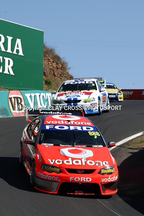 Craig Lowndes and Jamie Whincup driving the TeamVodafone Falcon during qualifying for the Supercheap Auto Bathurst 1000 held at Mount Panorama, Bathurst Australia ~ Round 10 of the 2007 V8 Supercar Series on Friday 5th October 2007.<br />Photo: Clay Cross/PHOTOSPORT
