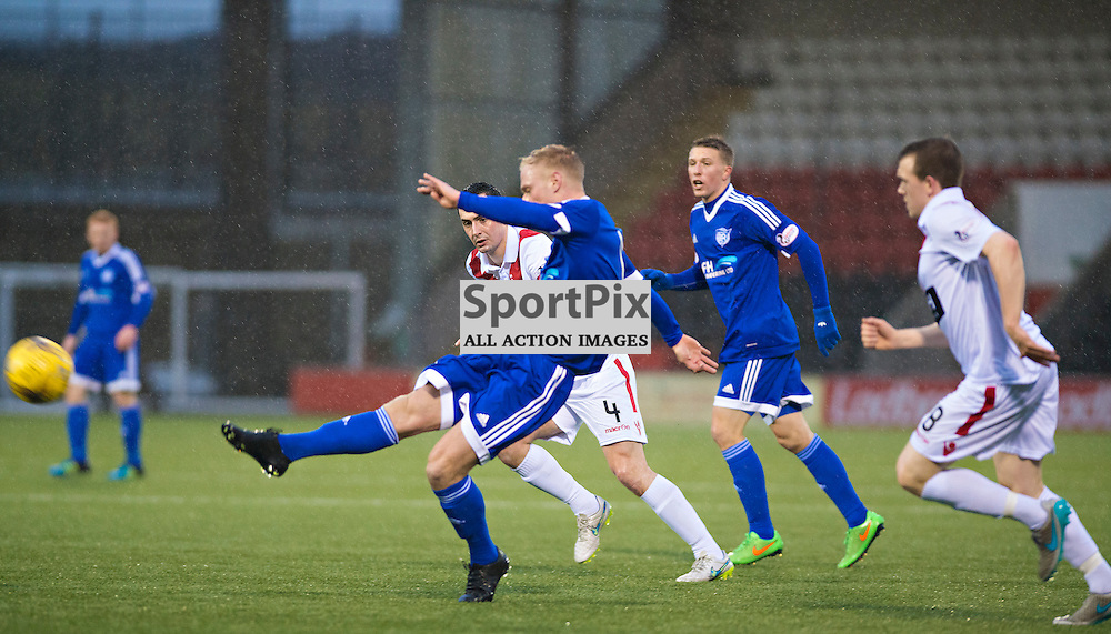 Peterhead's Jordon Brown fires in an early shot against Airdrie.....(c) BILLY WHITE | SportPix.org.uk