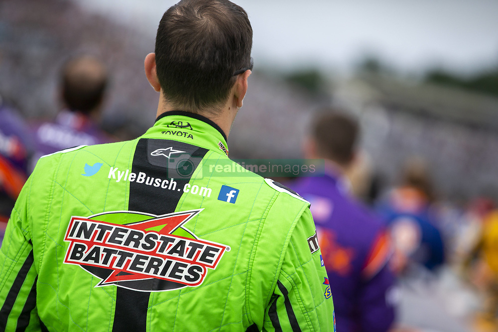 July 22, 2018 - Loudon, New Hampshire, United States of America - Kyle Busch (18) gets ready for the Foxwoods Resort Casino 301 at New Hampshire Motor Speedway in Loudon, New Hampshire. (Credit Image: © Stephen A. Arce/ASP via ZUMA Wire)