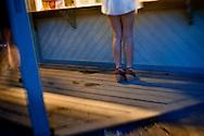Girl in bar. Midsummer night, Leksand, Sweden