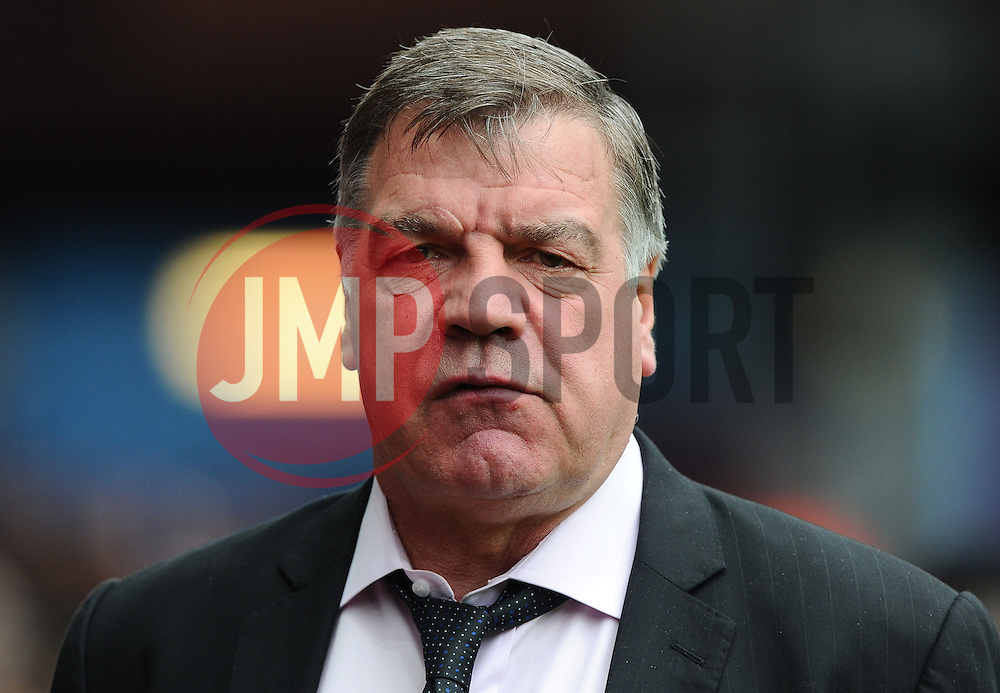 West Ham Manager, Sam Allardyce  - Photo mandatory by-line: Joe Meredith/JMP - Mobile: 07966 386802 - 09/05/2015 - SPORT - Football - Birmingham - Villa Park - Aston Villa v West Ham United - Barclays Premier League