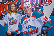 KELOWNA, CANADA - MARCH 07:  Pepsi Player of the Game with Kole Lind #16 of the Kelowna Rockets at the Kelowna Rockets game on March 07, 2018 at Prospera Place in Kelowna, British Columbia, Canada.  (Photo By Cindy Rogers/Nyasa Photography,  *** Local Caption ***