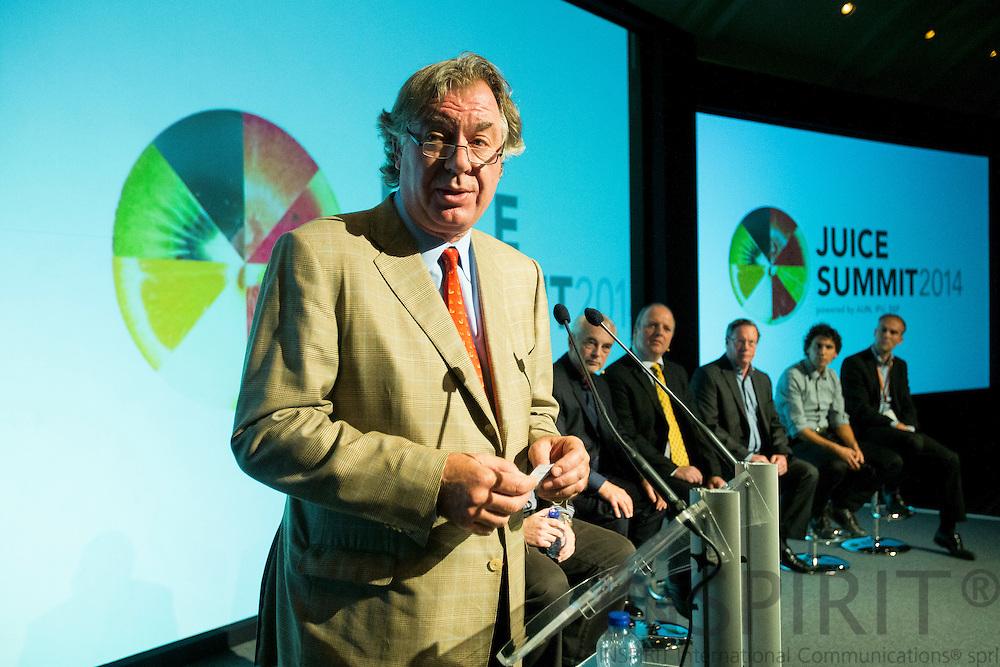 Andrew Biles, AIJN President, at the Juice Summit in Antwerp 15 - 16 October 2014. Photo: Erik Luntang