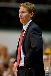 January 30, 2010; San Francisco, CA, USA;  Gonzaga Bulldogs head coach Mark Few during the second half against the San Francisco Dons at the War Memorial Gym.  San Francisco defeated Gonzaga 81-77 in overtime.