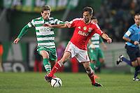 Jonas  / Adrien Silva  - 08.02.2015 - Sporting / Benfica - Liga Sagres<br />Photo : Carlos Rodrigues / Icon Sport