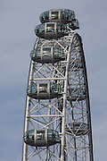 The London Eye tourist attraction on the Southbank.
