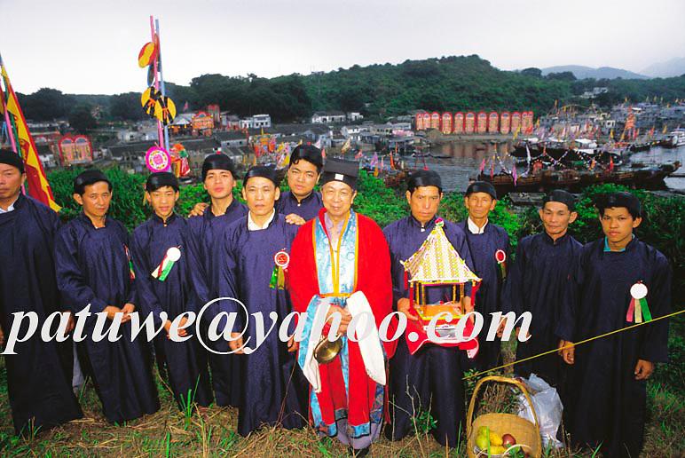 Taoist priest, Matsu, Tinhau festival, Matsu festival, Tapmun island, Hong Kong, china.