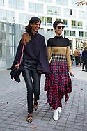 Liya Kebede and Yasmin Sewell at Loewe SS2018