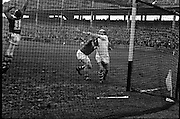 Railway Cup Final. Famed Cork hurler, Christy Ring, in full flight at the match with Leinster in Croke Park. 963: Semi-Final: Munster 9-7 Ulster 3-5. Final: Munster 5-5 Leinster 5-5. Final Replay: Munster 2-8 Leinster 2-7.<br />