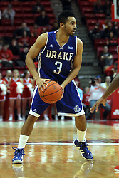 07 January 2015:   Jordan Daniels during an NCAA MVC (Missouri Valley Conference) men's basketball game between the Drake Bulldogs and the Illinois State Redbirds at Redbird Arena in Normal Illinois.  Illinois State comes out victorious 81-45.