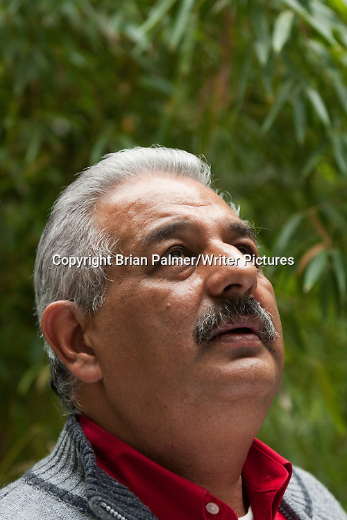 Victor Hernandez Cruz, Puerto Rican poet, after the annual Poets Forum, held by the Academy of American Poets at New School University, 30 October 2010. <br /> Photograph by Brian Palmer/Writer Pictures<br /> <br /> WORLD RIGHTS
