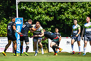West Wales Raiders v London Skolars<br /> <br /> Photographer Craig Thomas/Replay Images<br /> <br /> Betfred League 1 - West Wales Raiders v London Skolars  - Saturday 30rd June 2018 - Stebonheath Park - Llanelli<br /> <br /> World Copyright &copy; 2017 Replay Images. All rights reserved. info@replayimages.co.uk - www.replayimages.co.uk