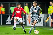 ALKMAAR - 26-11-15, Europa League, AZ  - FK Partizan, AFAS Stadion, 1-2, AZ speler Dabney dos Santos Souza, Partizan speler Vulicevic