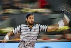 May 11, 2017 - Madrid, Madrid, Spain - FELICIANO LOPEZ (ESP) returns the ball to Novak Djokovic (SRB) in round 3 of the 'Mutua Madrid Open' 2017. Djokovic won 6:4, 7:5 (Credit Image: © Matthias Oesterle via ZUMA Wire)