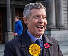 Willie Rennie supports Lib Dem candidates, Edinburgh, 6 November 2019
