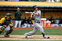 OAKLAND, CA - MAY 04: Norichika Aoki #8 of the Seattle Mariners at bat against the Oakland Athletics during the third inning at the Oakland Coliseum on May 4, 2016 in Oakland, California. (Photo by Jason O. Watson/Getty Images) *** Local Caption *** Norichika Aoki