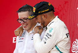May 13, 2018 - Barcelona, Spain - Motorsports: FIA Formula One World Championship 2018, Grand Prix of Spain, .Peter Bonnington, #44 Lewis Hamilton (GBR, Mercedes AMG Petronas Motorsport) (Credit Image: © Hoch Zwei via ZUMA Wire)