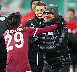 09.12.2017, Allianz Stadion, Wien, AUT, 1. FBL, SK Rapid Wien vs SV Mattersburg, 19. Runde, im Bild Torjubel Masaya Okugawa (SV Mattersburg) und Gerald Baumgartner (SV Mattersburg) // during Austrian Football Bundesliga Match, 19th Round, between SK Rapid Vienna and SV Mattersburg at the Allianz Arena, Vienna, Austria on 2017/12/09. EXPA Pictures © 2017, PhotoCredit: EXPA/ Thomas Haumer
