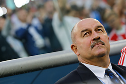 June 19, 2018 - Saint Petersburg, Russia - Russia national team head coach Stanislav Cherchesov during the 2018 FIFA World Cup Russia group A match between Russia and Egypt on June 19, 2018 at Saint Petersburg Stadium in Saint Petersburg, Russia. (Credit Image: © Mike Kireev/NurPhoto via ZUMA Press)