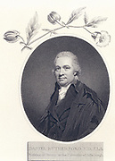 Daniel Rutherford (1749-1819) Scottish physician and botanist. Professor botany and Keeper of the Royal Botanic Garden, Edinburgh. The author Walter Scott was his nephew.   Engraving after the portrait by Raeburn from 'The Temple of Flora' by John Thornton (London, 1801).