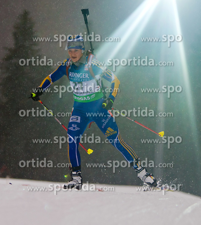13.01.2011, Chiemgau Arena, GER, IBU Biathlon Worldcup, Ruhpolding, Individual Women, im Bild Anna Carin Zidek (SWE) // Anna Carin Zidek (SWE) during IBU Biathlon World Cup in Ruhpolding, Germany, EXPA Pictures © 2011, PhotoCredit: EXPA/ J. Feichter