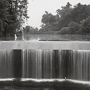 Pontoosuc Lake Dam with Great Blue Heron, West Branch