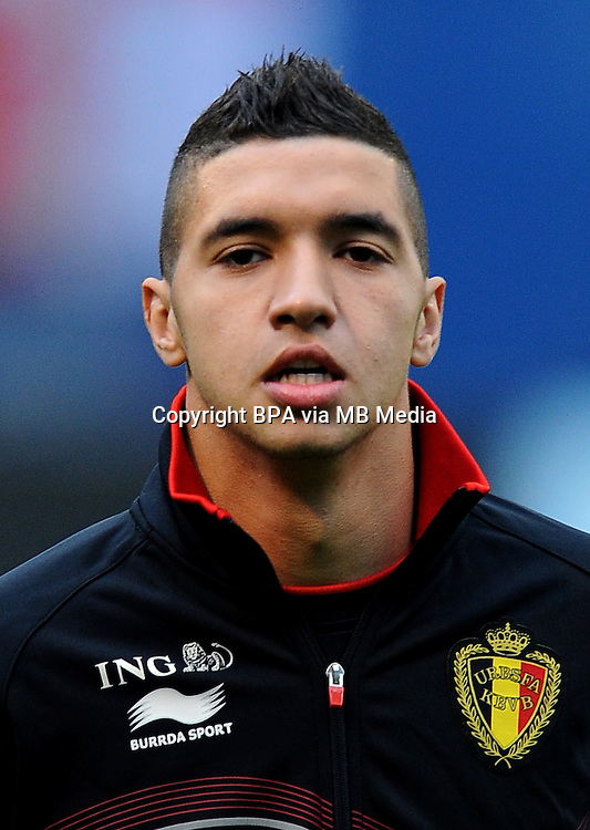 Football Fifa Brazil 2014 World Cup Matchs-Qualifier / Europe - Group A /<br /> Croatia vs Belgium 1-2  ( Maksimir Stadium - Zagreb , Croatia )<br /> Zakaria BAKKALI of Belgium , during the match between Croatia and Belgium