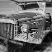 Rusted Truck - Pearsonville, CA - Lensbaby - Infrared Black & White