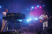 Air performing at the  Coachella Valley Music and Arts Festival at the Empire Polo Fields  2007 in Indio California on April 29, 2007. ..Nicolas Godin on guitar.Jean-Benoît Dunckel on synth..