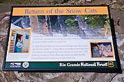 Interpretive sign, Rio Grande National Forest, Colorado