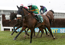 Brelan D'as ridden by Barry Geraghty in the Spectra Cyber Security Solutions Trophy Handicap Chase during Festival Trials Day at Cheltenham Racecourse.
