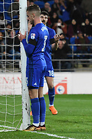 Football - 2017 / 2018 Sky Bet Championship - Cardiff City vs. Wolverhampton Wanderers<br /> <br /> Joe Bennett  of Cardiff City with head against the post after he shoots at goal, at Cardiff City Stadium.<br /> <br /> COLORSPORT/WINSTON BYNORTH