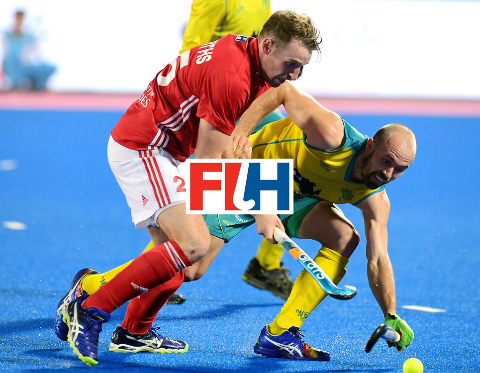 Odisha Men's Hockey World League Final Bhubaneswar 2017<br /> Match id:09<br /> Australia v England<br /> Foto: Chris Griffiths (Eng)<br /> WORLDSPORTPICS COPYRIGHT FRANK UIJLENBROEK