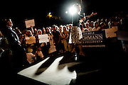 Republican presidential candidate Michele Bachmann speaks at a rally at Iowa State, the site of the Straw Poll in Ames, Iowa, August 12, 2011.