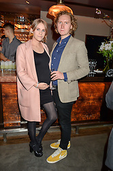 INDIA ROSE JAMES and HUGH HARRIS at the Fashion Targets Breast Cancer 20th Anniversary Party held at 100 Wardour Street, Soho, London on 12th April 2016.