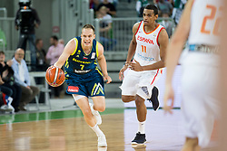 Klemen Prepelic of Slovenia during basketball match between Slovenia and Spain in Round #5 of FIBA Basketball World Cup 2019 European Qualifiers, on June 28, 2018 in SRC Stozice, Ljubljana, Slovenia. Photo by Urban Urbanc / Sportida