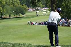 August 10, 2018 - St. Louis, Missouri, United States - Francesco Molinari chips on to the 9th green during the second round of the 100th PGA Championship at Bellerive Country Club. (Credit Image: © Debby Wong via ZUMA Wire)