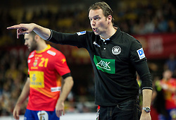 Dagur Valdimar Sigurdsson, head coach of Germany during handball match between National teams of Spain and Germany on Day 2 in Preliminary Round of Men's EHF EURO 2016, on January 15, 2016 in Centennial Hall, Wroclaw, Poland. Photo by Vid Ponikvar / Sportida
