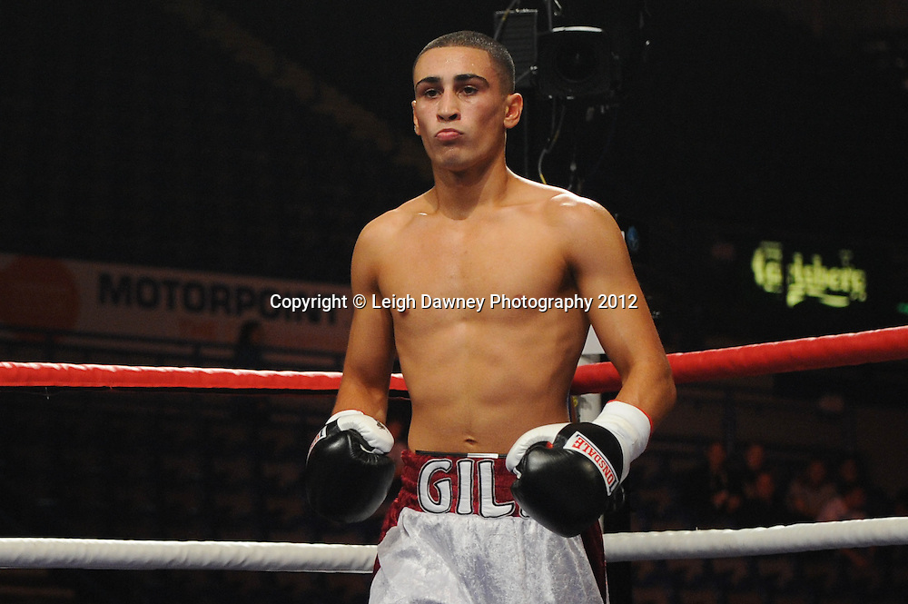 Jordan Gill defeats Kristian Laight in a Lightweight contest at the Motorpoint Arena, Sheffield, United Kingdom on the 7th July 2012. Promoted by Matchroom Sport. ©Leigh Dawney Photography 2012.