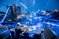 DETROIT – MAY 30: Chris Liebing plays the Main Stage at the Movement Electronic Music Festival Monday, May 30, 2016 at Hart Plaza in downtown Detroit.  (Photo by Bryan Mitchell)