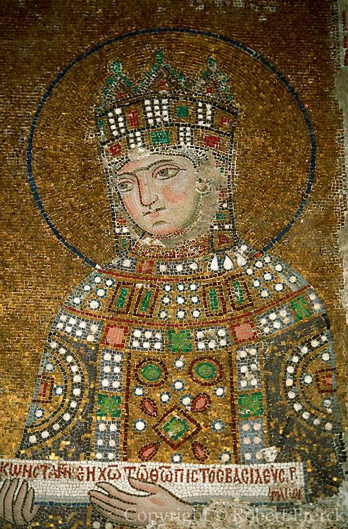TURKEY, ISTANBUL, BYZANTINE Aya Sofya; Empress Zoe mosaic 6thc