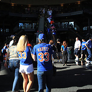 New York Mets fans wearing Matt Harvey shirts arrive to watch him pitch during the New York Mets V Arizona Diamondbacks Major League Baseball game  at Citi Field, Queens, New York. USA. 3rd July 2013. Photo Tim Clayton